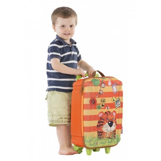 چمدان چرخ دار بزرگ طرح ببر اوکی داگ Okiedog