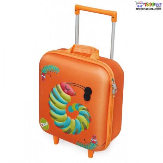 چمدان چرخدار طرح ترولی کرم ابریشم اوپس Oops