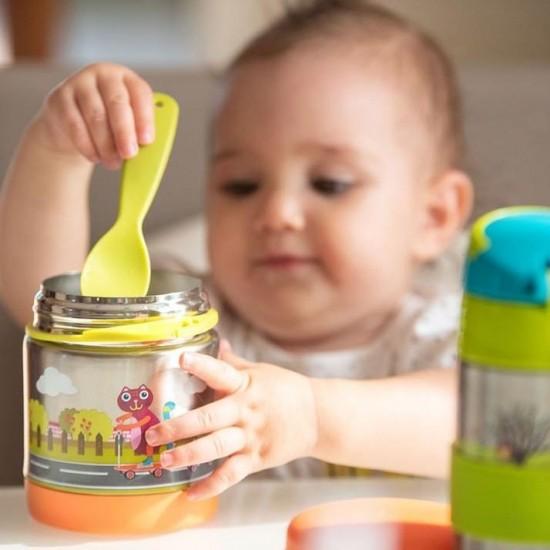فلاسک غذا با چنگال کودک اوپس Oops