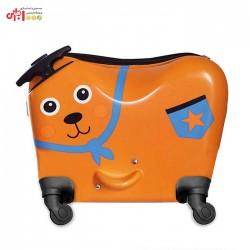 چمدان چرخ دار کودک طرح خرس دوز اوپس oops