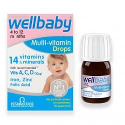 قطره مولتی ویتامین کودک ول بیبی Wellbaby