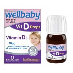 قطره ویتامین D3 کودک ول بیبی Wellbaby