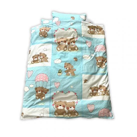 سرویس سه تکه خواب نوزادی طرح فیل ابی