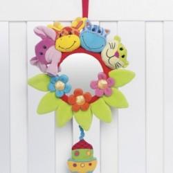عروسک آویز موزیکال نخ کش آینه دار حیوانات پلی گرو Playgro