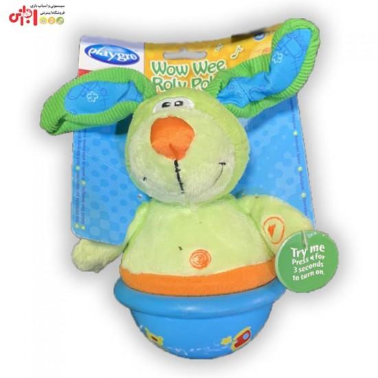 عروسک خرس و خرگوش معلق موزیکال  playgro