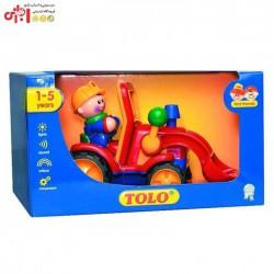 اسباب بازی ماشین بولدوزر تولو TOLO