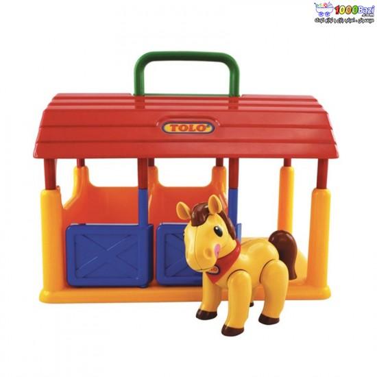 اسباب بازی اصطبل اسب تولو tolo