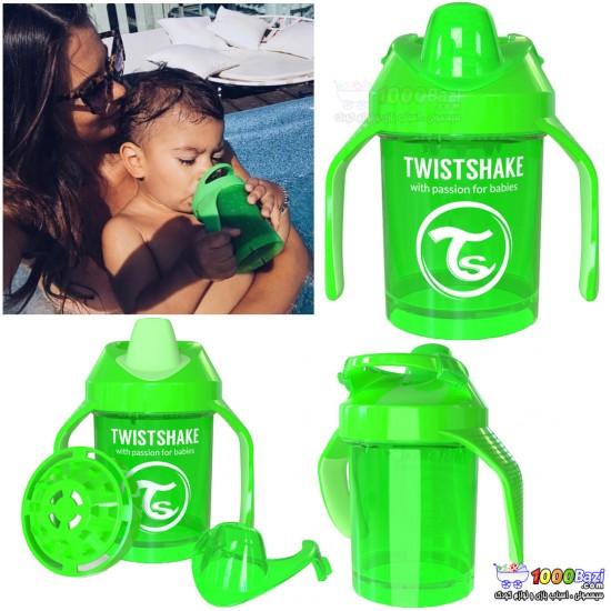 لیوان آموزشی دسته دار مینی 230 میل کودک Twistshake