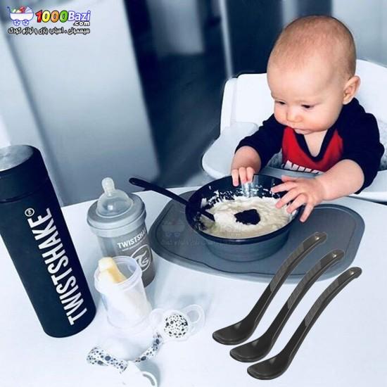 قاشق غذاخوری 3 عددی کودک Twistshake