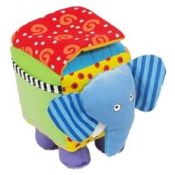 عروسک پولیشی فیل موزیکال و آینه دار BabyMix