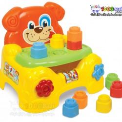 اسباب بازی صندلی و پازل سگ Clementoni