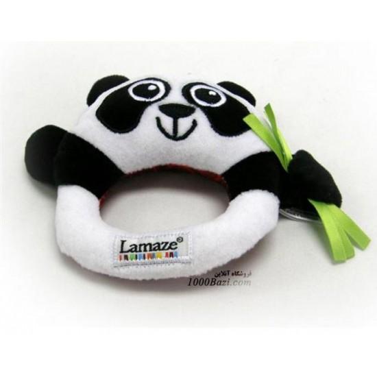 اسباب بازی لاماز جغجغه پولیشی مدل خرس پاندا Lamaze