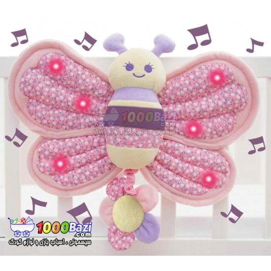 پروانه موزیکال چراغ دار تختخواب کودک Little Bird