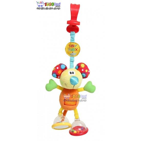 عروسک گیرهدار جغجغهای موش Playgro