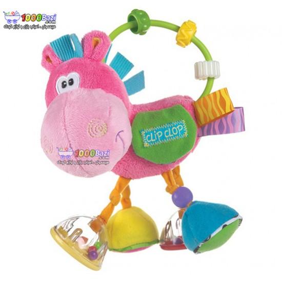 عروسک اسب حلقه و مهره صورتی Playgro