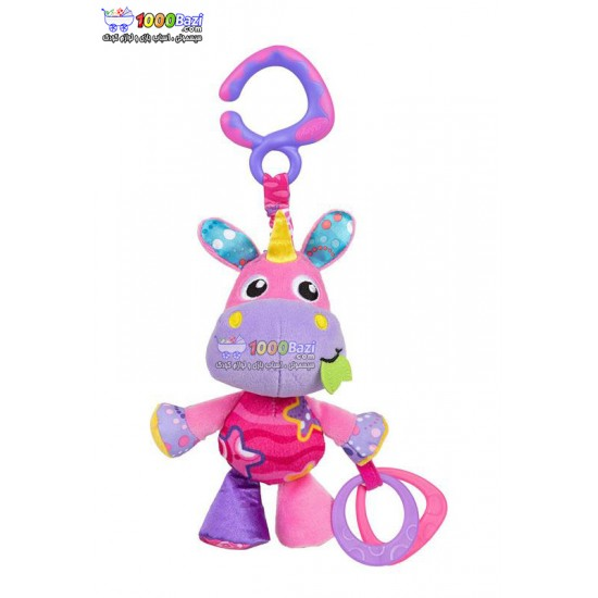عروسک آویزدار اسب شاخدار صورتی Playgro