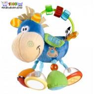 عروسک اسب حلقه و مهره آبی Playgro