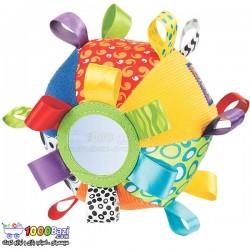 اسباب بازی توپ پارچه ای جغجغه دار و آینه دار Playgro