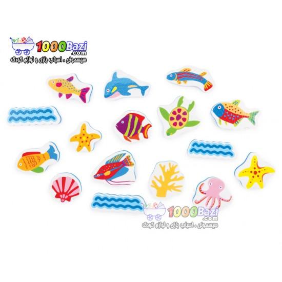 استیکر فومی حمام موجودات دریایی Tolo