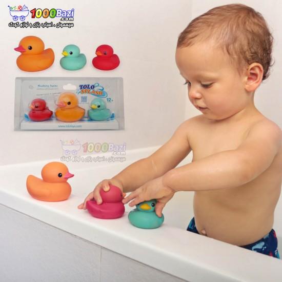 اسباب بازی حمام کودک ست اردک خجالتی Tolo