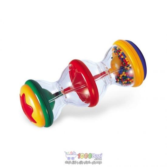 اسباب بازی جغجغه استوانه ای دانه رنگی Tolo