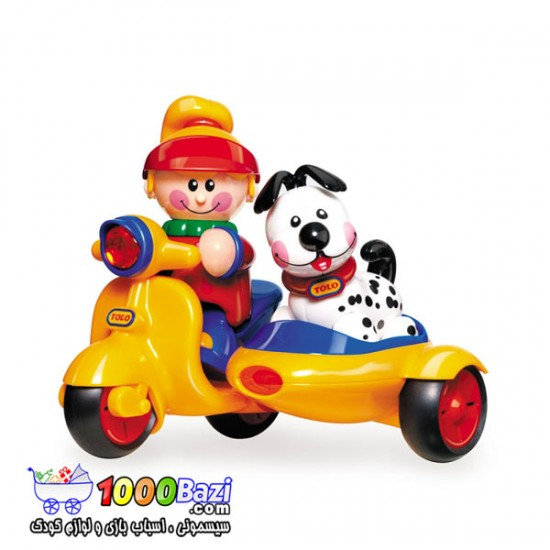 اسباب بازی موتور ساید به همراه پاپی و آدمک دختر Tolo