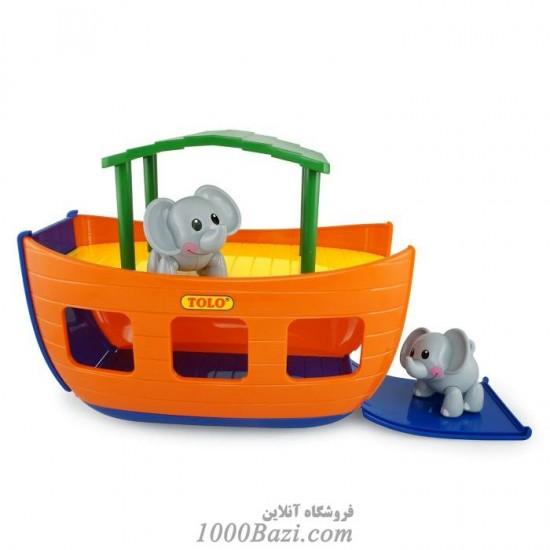 اسباب بازی کودک کشتی حیوانات تولو