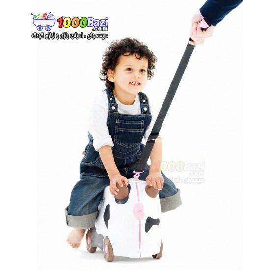 چمدان و اسباب بازی چرخدار کودک طرح گاو Trunki