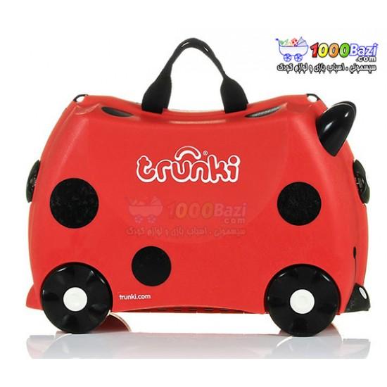 چمدان و اسباب بازی چرخدار کودک طرح کفشدوزک Trunki