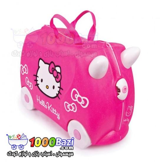 چمدان و اسباب بازی چرخدار کودک طرح هلوکیتی Trunki