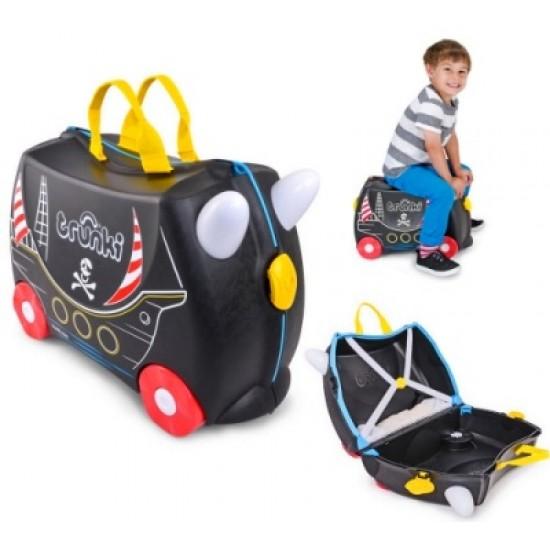 چمدان و اسباب بازی چرخدار کشتی دزدان دریایی ترانکی