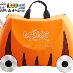چمدان و اسباب بازی چرخدار کودک طرح ببر نارنجی Trunki