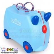 چمدان و اسباب بازی چرخدار کودک طرح آبی کمرنگ Trunki