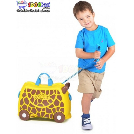 چمدان و اسباب بازی چرخدار طرح زرافه Trunki