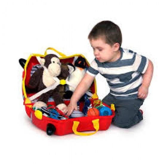 چمدان و اسباب بازی چرخدار ماشین مسابقه ای ترانکی