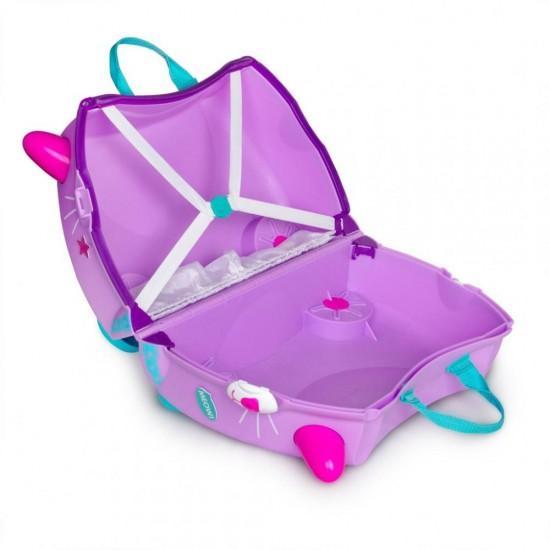 چمدان و اسباب بازی چرخدار ترانکی گربه صورتی