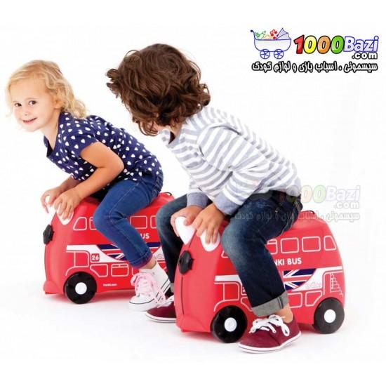 چمدان و اسباب بازی چرخدار کودک طرح اتوبوس Trunki