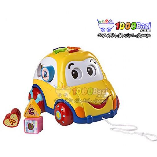 اسباب بازی ماشین و پازل موزیکال زرد Winfun