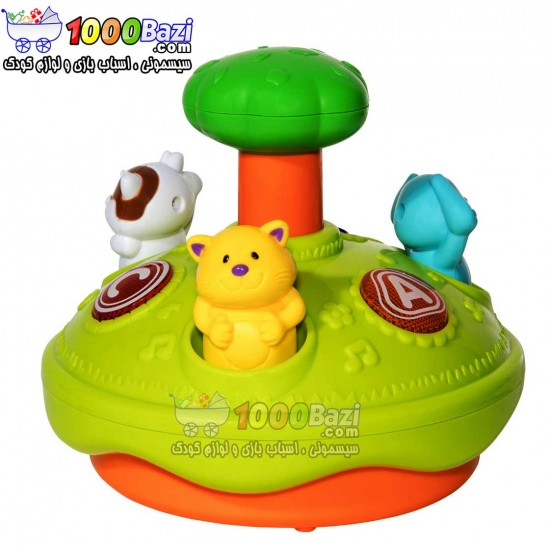 اسباب بازی گردونه چرخشی حیوانات Winfun