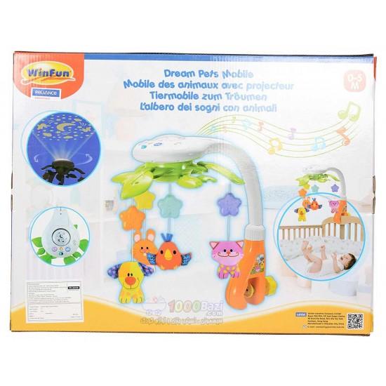 اسباب بازی آویز تخت چراغدار موزیکال Winfun