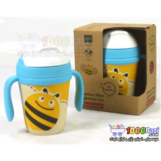 لیوان آبمیوه خوری نی دار گیاهی کودک Yookidoo