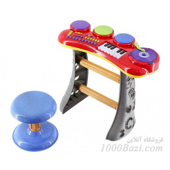 اسباب بازی پیانو موزیکال با صندلی