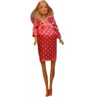 عروسک باربی باردار قرمز