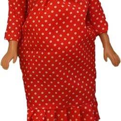 عروسک باربی باردار سرخابی
