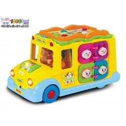 اتوبوس مدرسه موزیکال هولی تویز huile toys