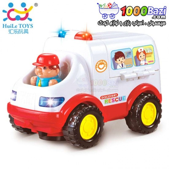اسباب بازی آمبولانس هویلی تویز huile toys