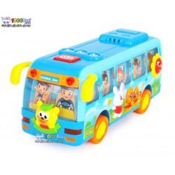 اتوبوس مدرسه آبی هولی تویز huile toys