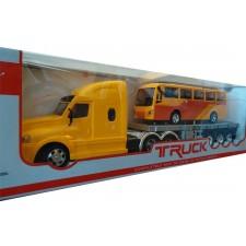 اسباب بازی تریلی کنترلی بارکش با اتوبوس
