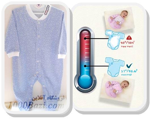 لباس نوزادی حاوی رنگدانه برای تشخیص تب نوزاد