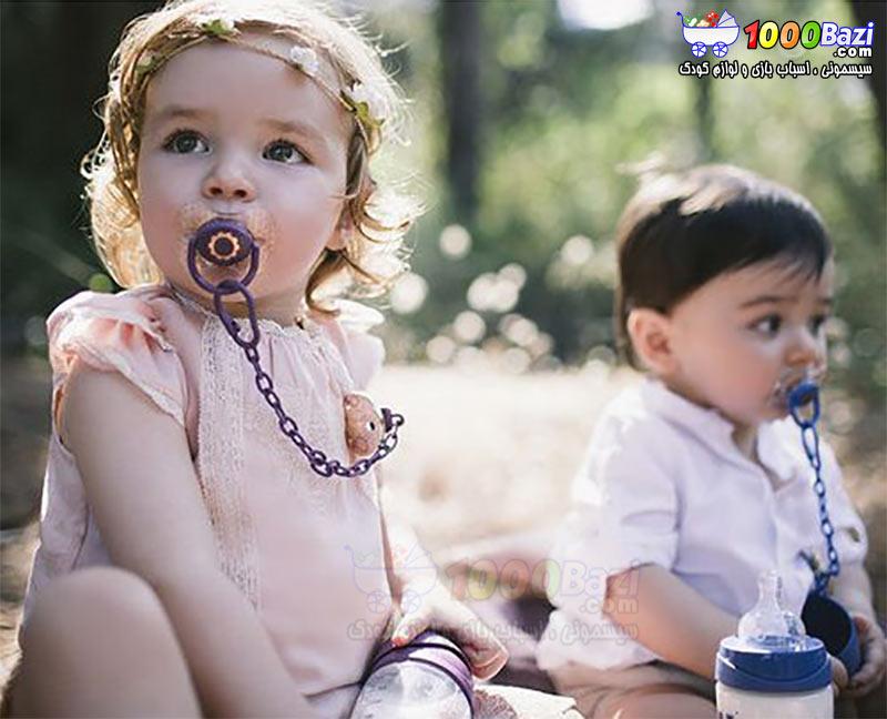 پستانک دخترانه کودک بنفش Suavinex